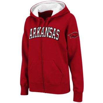 Arkansas Razorbacks Women's Classic Arch Full Zip Hooded Sweatshirt – Cardinal