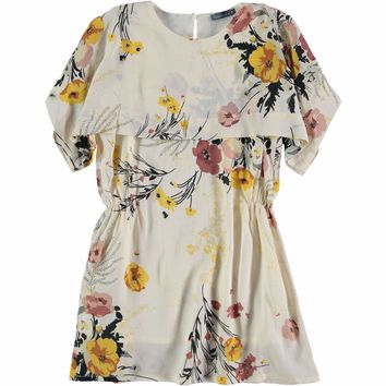 Tarantela Spring Flower Cape Dress