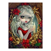 Christmas Candle angel fairy Art Print from Zazzle.com