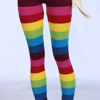 MSD BJD clothes Rainbow stripe legging MonstroDesigns