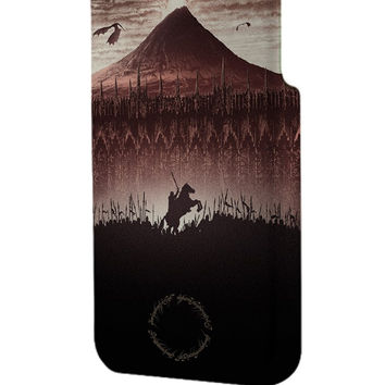 Best 3D Full Wrap Phone Case - Hard (PC) Cover with The Lord of The Rings Mountain Design