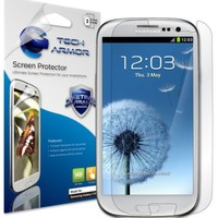 Tech Armor HD Clear Screen Protectors with Lifetime Replacement Warranty for Samsung Galaxy S3 S II