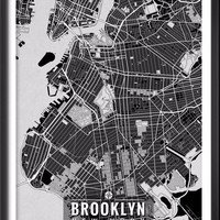 Brooklyn New York Map with Coordinates