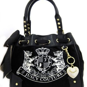 Juicy Couture Scottie Embroidery Daydreamer Tote Bag (Black)