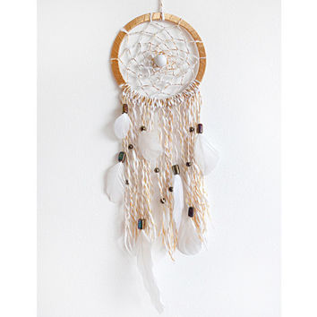 DreamCatcher, Boho Chic Dreamcatcher, Handmade, Wall Hanging, Home Decor, Feathers, Gypsy, Hippie, Unique Handmade Art, Nursery Decor