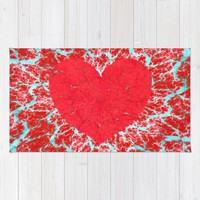 Winter heart. Valentine's day love confession Rug by Natalia Bykova | Society6