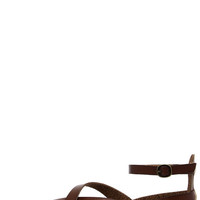 Blowfish Gill Whiskey Brown Gladiator Sandals