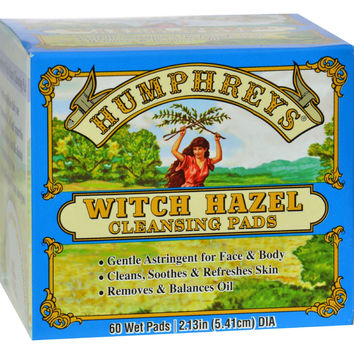 Humphrey's Homeopathic Remedy Witch Hazel Cleansing Pads - 60 Pads
