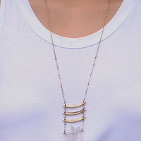 Three Strikes Necklace
