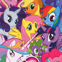 My Little Pony Cartoon Cast Collage Poster 24x36