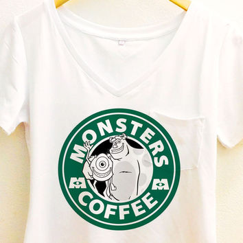 Monsters Inc Coffee shirt | Disney Pixar Pocket Tee