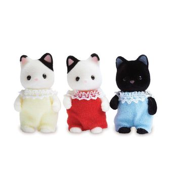 Calico Critters Tuxedo Cat Triplets Standard Packaging