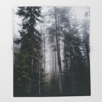 Into the forest we go Throw Blanket by happymelvin