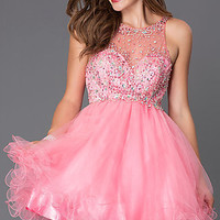 Short Baby Doll Homecoming Dress GS2074