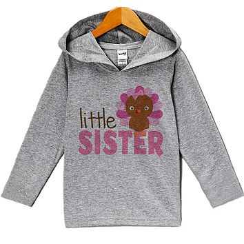 Custom Party Shop Baby Girl's Little Sister Thanksgiving Hoodie