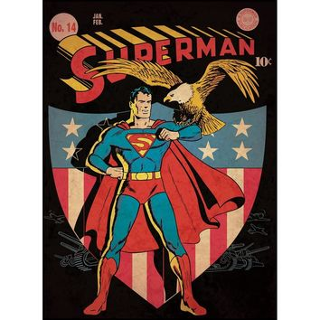 Superman Patriotic Comic Cover Giant Wall Decal