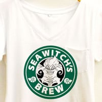 Sea Witch's Brew Coffee Shirt | Ursula The Little Mermaid Starbucks | Disney Villain