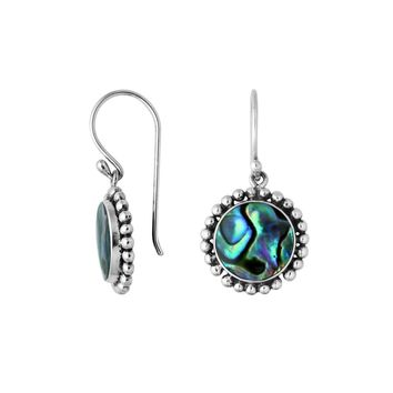 AE-6218-AB Sterling Silver Earring With Abalone Shell