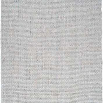 Jute Woven Natural Fibers Area Rug Gray