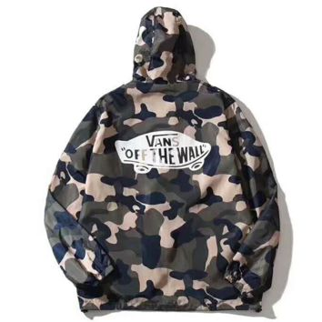 Vans  off the wall  Ultrathin  Windbreake  Prevent bask Hooded zipper Coat I-YQ-ZLHJ