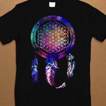 Best Design Bring Me The Horizon Dream Catcher Galaxy Men's T-shirt, BMTH Rock Music Men's T-shirt,  Awesome Shirt