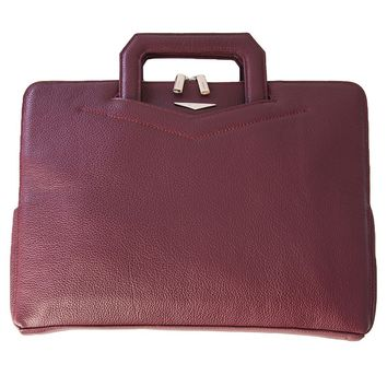 Milan-Slim Attachè Case-Burgundy