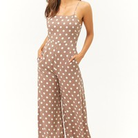 Polka Dot Wide-Leg Jumpsuit