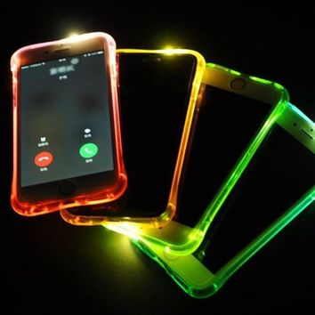 Calling LED Flash Light Anti Knock Silicone Luminous TPU Case for iPhone 6/6s/6s Plus