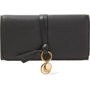 Chloé - Textured-leather continental wallet