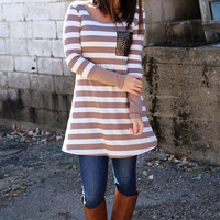 Stripe Out Tunic Dress
