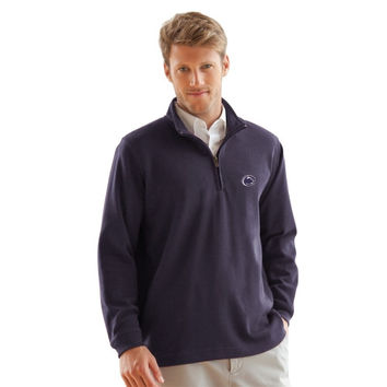 Penn State Nittany Lions Flat Back Rib 1/4 Zip Sweater – Navy Blue