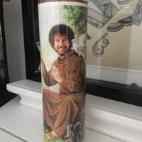 St Bob Ross Prayer Candle
