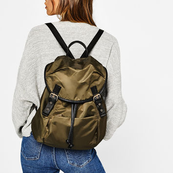 Backpack with straps - New - Bershka United States