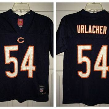 PEAPYD9 Sale!! Vintage Reebok CHICAGO BEARS Football Jersey NFL #54 Urlacher shirt