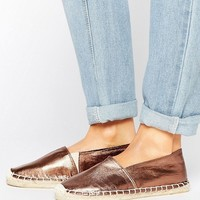Pieces Haisha Metallic Bronze Espadrilles at asos.com