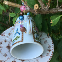 Coffee Cup Bird Feeder, Tea Cup Bird Feeder, Hanging Garden Accent, Upcycled Ceramic Cup, Repurposed, Upcycled, Home Decor, Dish Bird Feeder