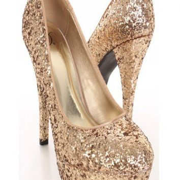 Gold Glittery Closed Toe Platform Pump Heels @ Amiclubwear Heel Shoes online store sales:Stiletto Heel Shoes,High Heel Pumps,Womens High Heel Shoes,Prom Shoes,Summer Shoes,Spring Shoes,Spool Heel,Womens Dress Shoes,Prom Heels,Prom Pumps,High Heel Sandals,