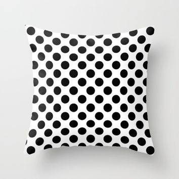 #8 Circles Throw Pillow by Minimalist Forms