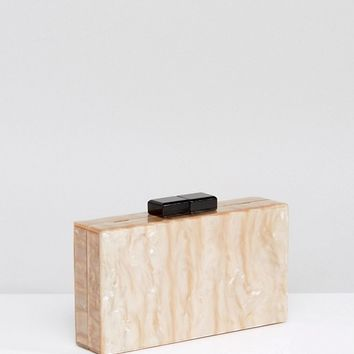 ASOS Marble Box Clutch Bag at asos.com