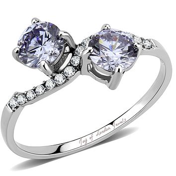 2TCW Millennial Pink - Lavender Russian Lab Diamond Engagement Ring
