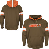 Cleveland Browns Majestic Helmet Synthetic Pullover Hoodie – Brown