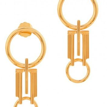 MFP-MariaFrancescaPepe The Origins 23kt gold-plated drop earrings