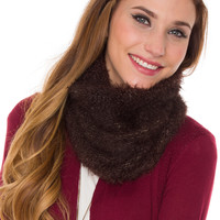 Harlet Tube Scarf - Chocolate