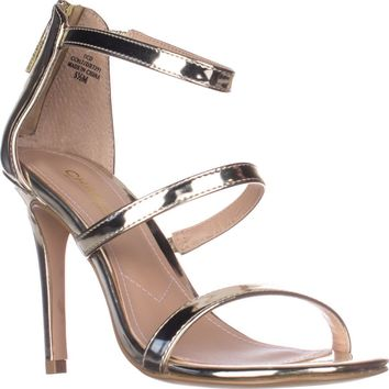 Charles Charles David Ria Strappy Heeled Sandals, Gold Speccio, 9.5 US