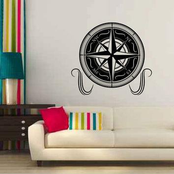 Nautical Compass Vinyl Wall Decal Sticker Graphic