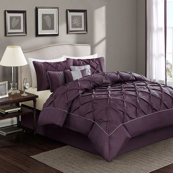 Sophia 7-pc. Comforter Set - Cal. King (Purple)