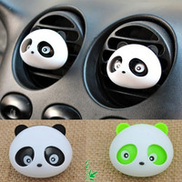 2015 Panda Car Perfume Outlet Panda Eyes Will Jump Air Conditioning Vent With Scented Tea CAR-0131 = 1706158916