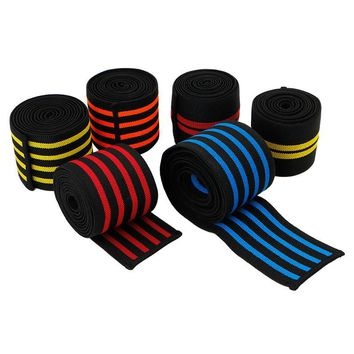 2m long elastic knee support Gym Sports Wraps for Men's Weight Lifting Bandage Straps Guard Pads ankle leg wrist wrap NEW