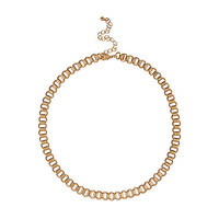 River Island Womens Gold tone short box chain necklace