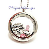 Living Locket / Breast Cancer Awarness Jewelry / Remembrance Necklace